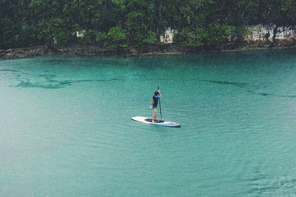 Paddle Boarding in Sugba Lagoon