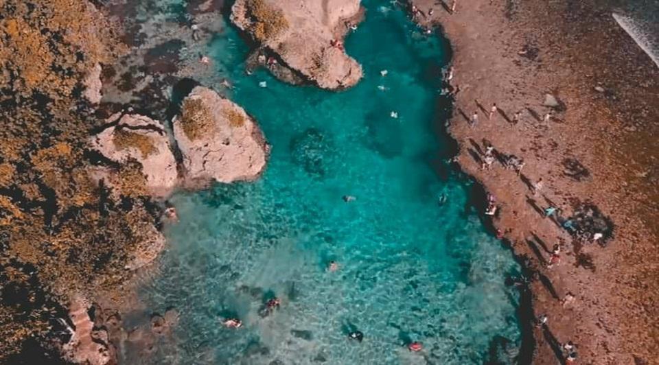 Magpupungko Tidal Pool Siargao - Drone Shot