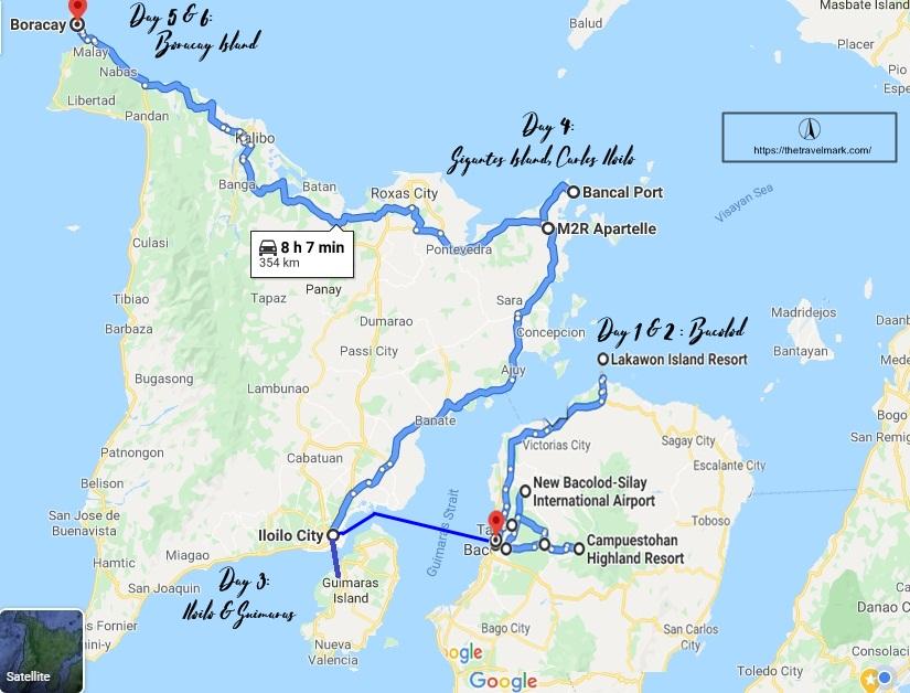 Bacolod-IloIlo-Guimaras-Boracay Itinerary Travel Route - The Travel Mark