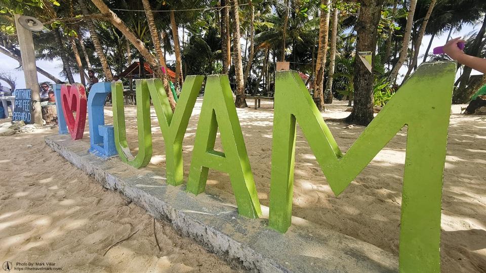 Guyam Island Signage - Siargao Island Hopping
